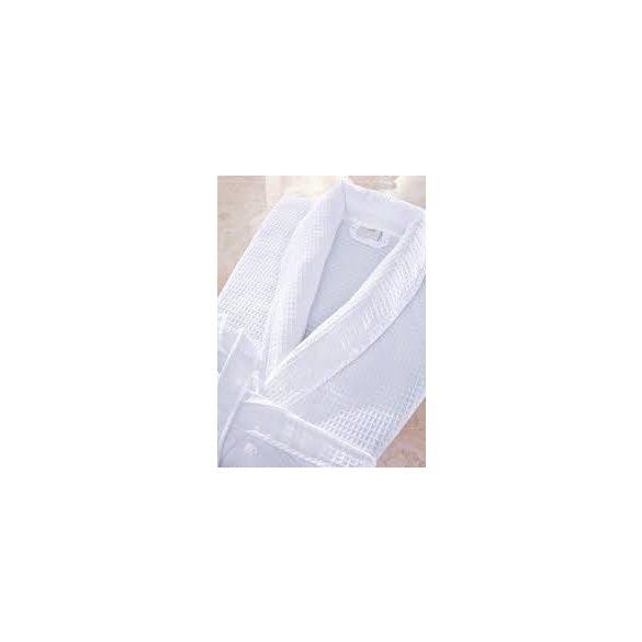 Fehér darázsmintás pamutköntös L méret