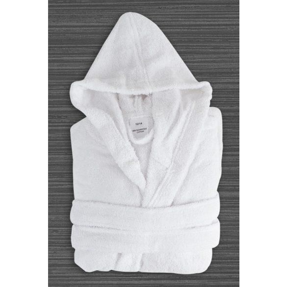White gyermek terry kapucnis robe 12-14 éves korig
