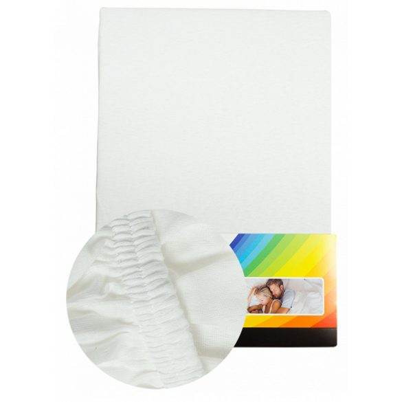 White fitted sheet 140-160cmx200cm