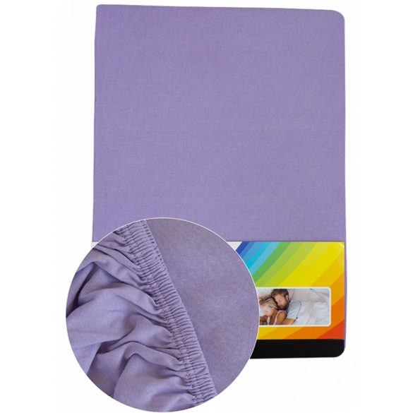 Colored fitted sheet 140-160cm-200cm purple