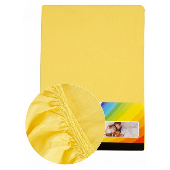 Colored fitted sheet 90-100cmx200cm lemon