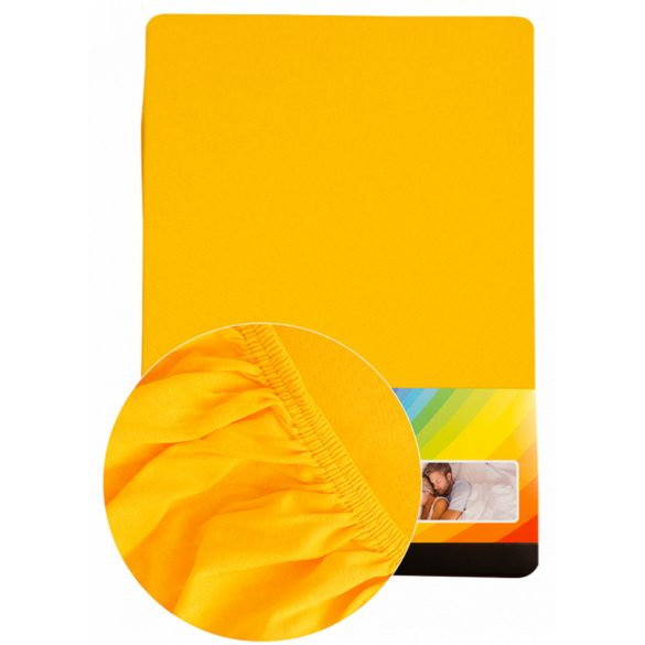Colored fitted sheet 90-100cmx200cm yellow