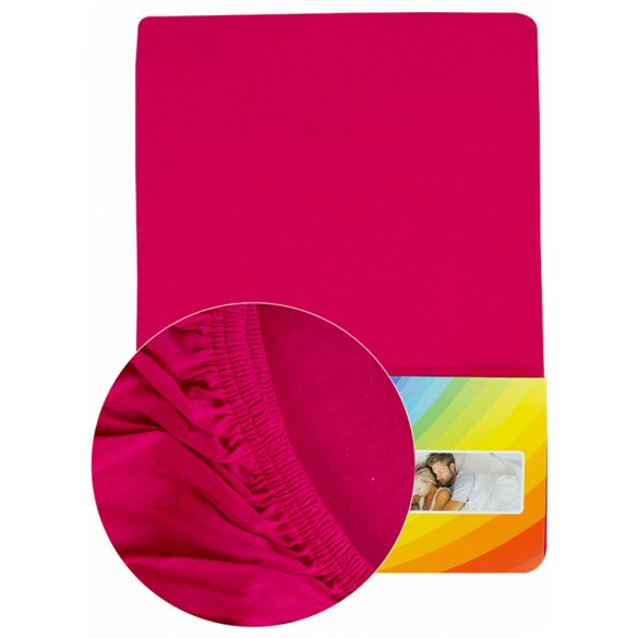 Colored fitted sheet 90-100cmx200cm pink
