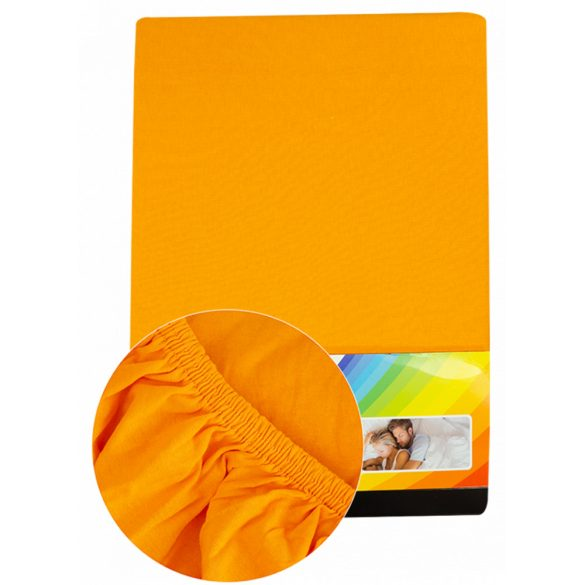 Colored fitted sheet 90-100cmx200cm orange