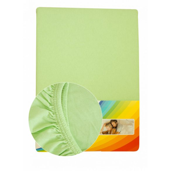 Colored fitted sheet 90-100cmx200cm apple green