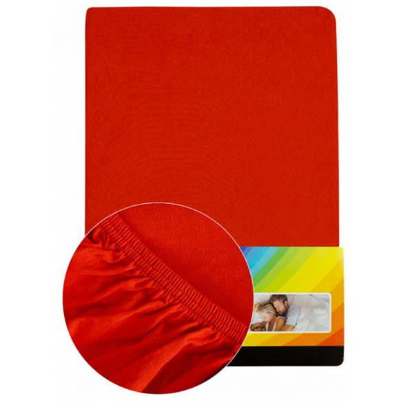 Colored fitted sheet 140-160cmx200cm red