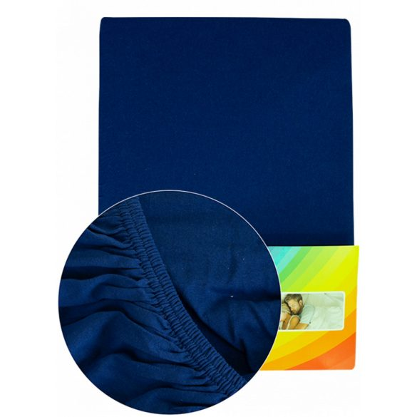 Colored fitted sheet 180-200cmx200cm royal blue