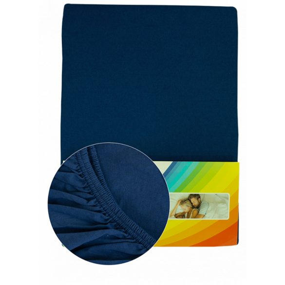 Colored fitted sheet 180-200cmx200cm jeansblue