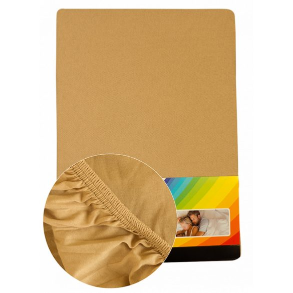 Colored fitted sheet 140-160cmx200cm cream