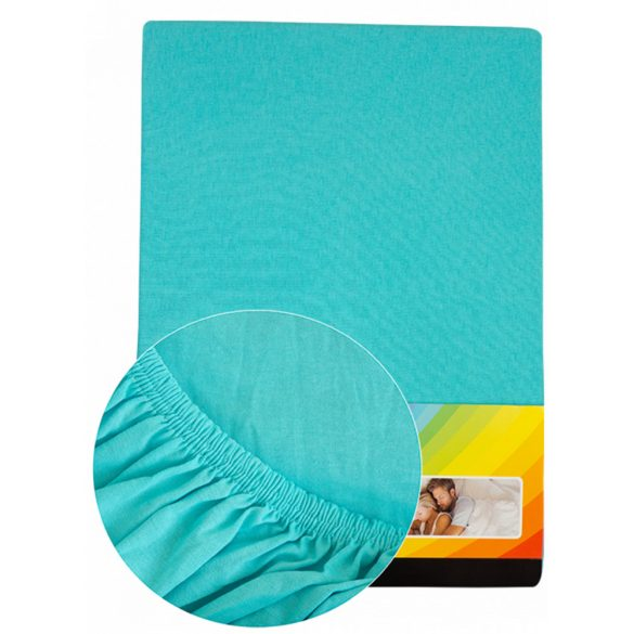 Colored fitted sheet 180-200cmx200cm turquise