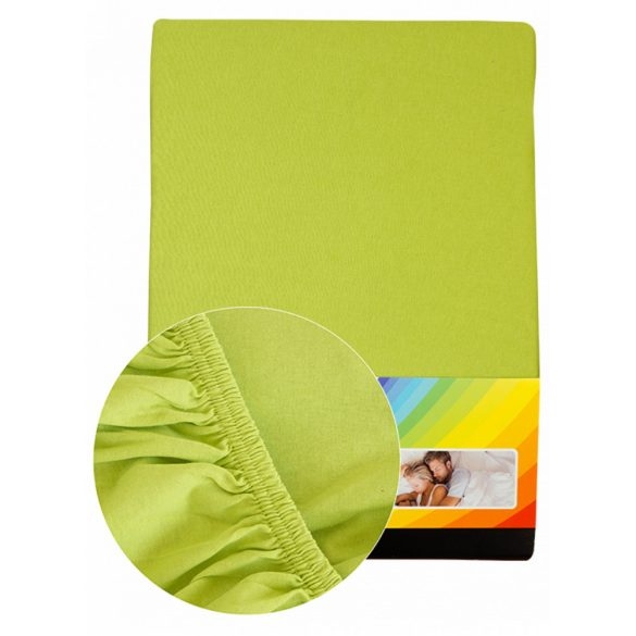 Colored fitted sheet 180-200cmx200cm lime