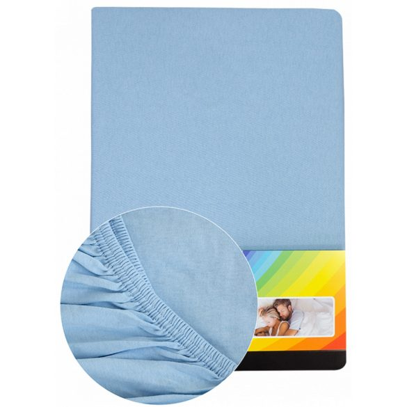 Colored fitted sheet 90-100cmx200cm light blue