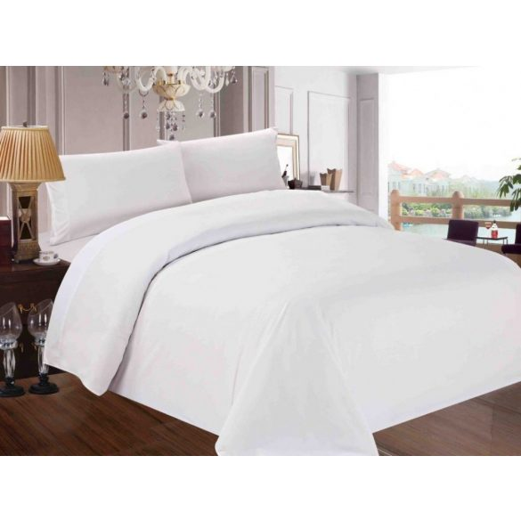 Plain white bed linen set