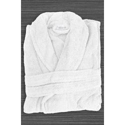 Fehér frottír köntös sálgalléros 3 XL méret, hotel minőség