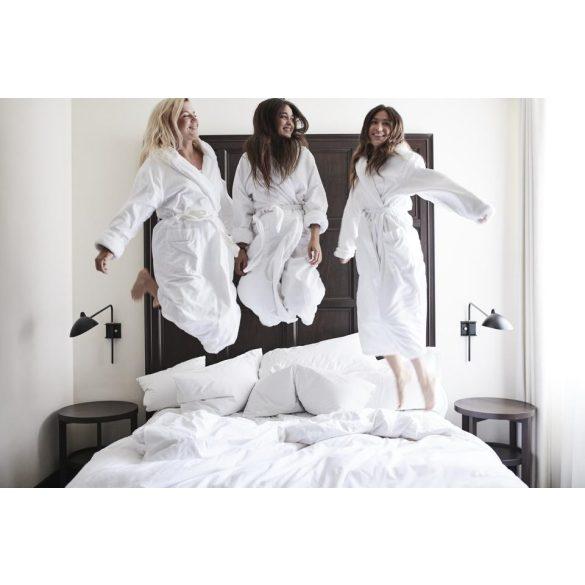 Fehér frottír köntös sálgalléros 4 XL méret, hotel minőség