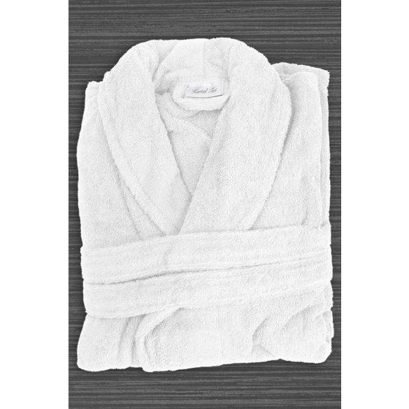 Fehér frottír köntös sálgalléros 5XL méret, hotel minőség