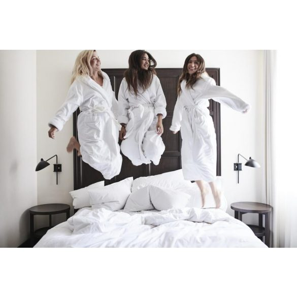 Fehér frottír köntös sálgalléros XL méret, hotel minőség