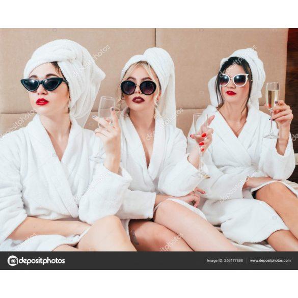 Fehér frottír köntös sálgalléros 2 XL méret,hotel minőség