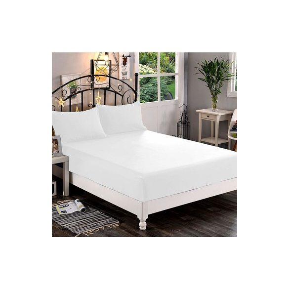 White fitted sheet ömlesztett 140-160cmx200cm