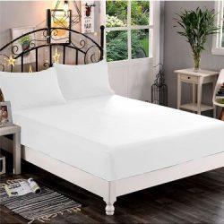 White fitted sheet ömlesztett 90-100cmx200cm