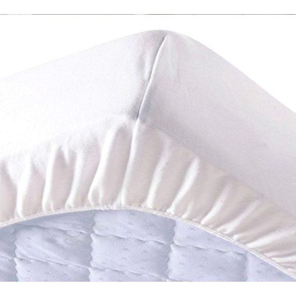 Fehér Pamut Gumis Lepedő, 90-100cmx200cm, Hotel Minőség