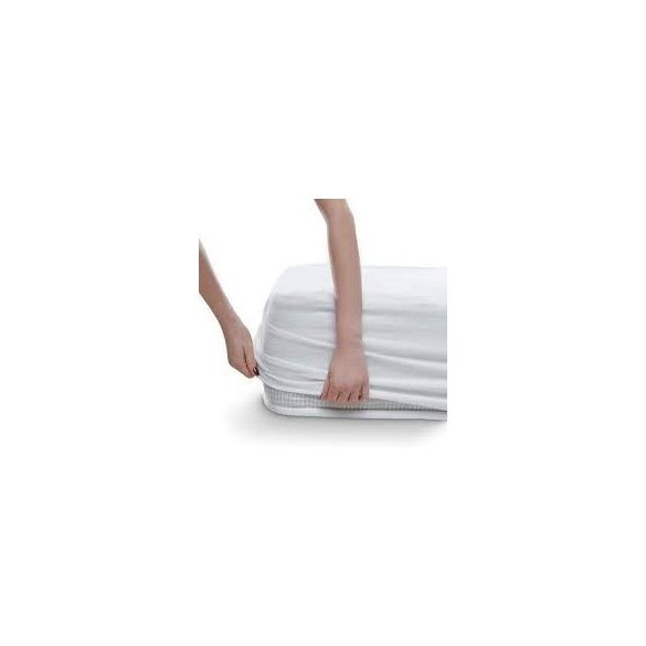 MATRACVÉDŐ VÍZHATLAN Körgumis- Pamut jersey felső  90x200 cm+30cm