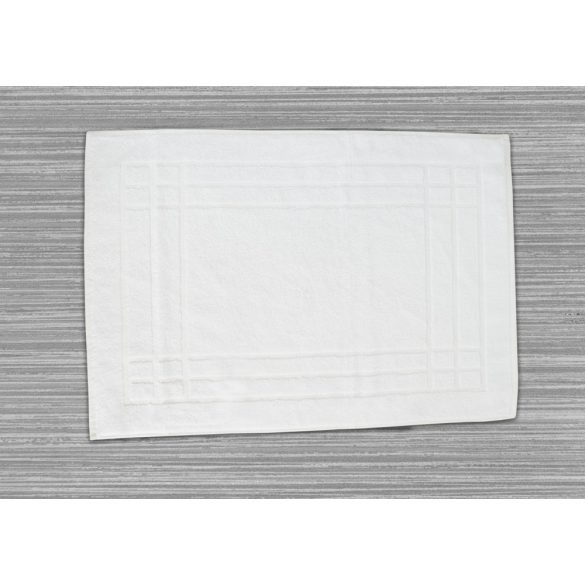 Colored  terry bath math keretes White 50x70 cm